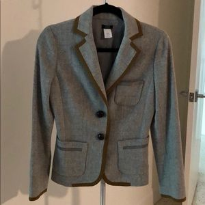 JCrew Wool Blazer with silk Trim